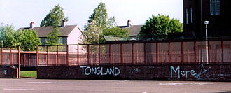 Calton, Glasgow - Tongland graffiti in the Calton. Photo taken 2004.