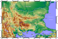 Topographic Map of Bulgaria Bulgarian.png