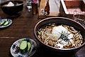 Tororo soba and cucumber by niigata-ryokou in Niigata.jpg
