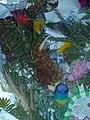 Toy kiwi in Christchurch mosque shootings memorial flower wall 01.jpg