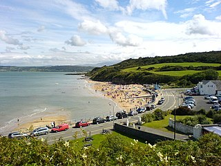 Benllech town on the Isle of Anglesey in Wales