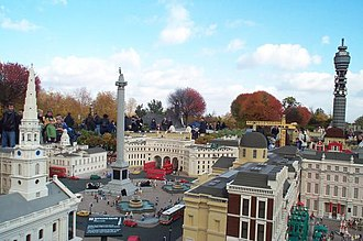 Lego - A model of Trafalgar Square, London, in Legoland Windsor