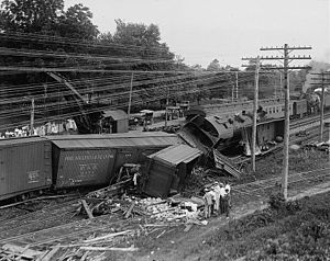 Laurel, Maryland - A head-on train wreck in Laurel, July 31, 1922