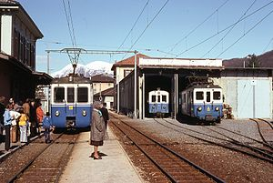 Agno railway station - Image: Trains du Lugano Ponte Tresa (Suisse)