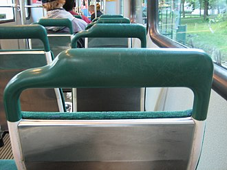Tram accident - Fireproof, round shaped, flexible and/or impact absorbing materials are used in the tram interiors.