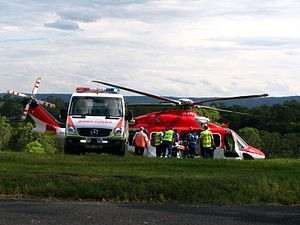 Transferring patient to helicopter - Flickr - Highway Patrol Images.jpg