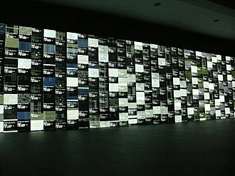 Ryoji Ikeda - data.tron vy Ikeda on show in transmediale 10, Berlin, Germany