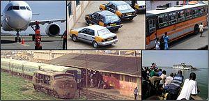 Transport in Ghana - Image: Transporte público de Ghana – Public Transport in Ghana (collage)