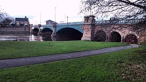 Trent Bridge (bridge) - View of Trent Bridge from the bank of the River Trent, West Bridgford