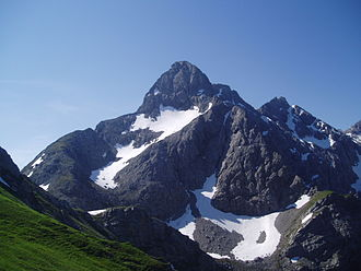 Trettachspitze - The Trettachspitze from the north