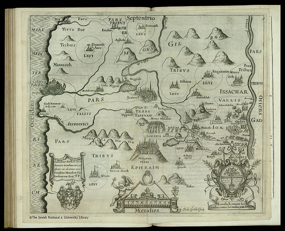 Tribe of Manasseh map 1650