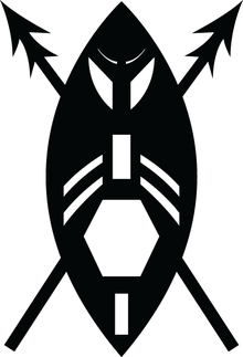 Shield and spears logo