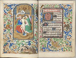 Trivulzio book of hours - KW SMC 1 - folios 013v (left) and 014r (right).jpg