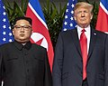 Trump and Kim pose a photo before Singapore Summit (cropped).jpg