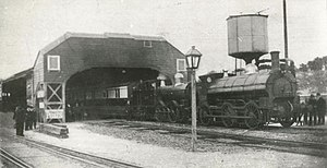 Truro railway station - The last broad gauge train to Penzance calls at Truro in 1892