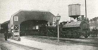 Truro railway station - The last broad gauge train to Penzance calls at Truro in 1892