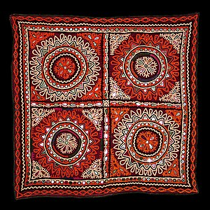 Shisha (embroidery) -  Abhala Bharat or Shisha embroidery from Gujarat