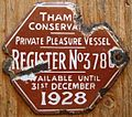 U.K. THAMES CONSERVANCY 1928 -BOAT LICENSE, PRIVATE PLEASURE VESSEL - Flickr - woody1778a.jpg