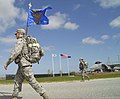 U.S. Airmen with the 102nd Security Forces Squadron, Massachusetts Air National Guard take part in a ruck march around Otis Air National Guard Base, Mass., May 4, 2013 130504-Z-LB339-582.jpg