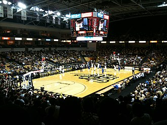 UCF Knights women's basketball - The interior of the CFE Arena
