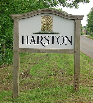 Harston, Leicestershire - Harston village sign