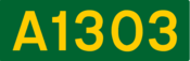 A1303 road shield