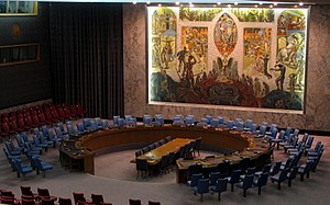 Arnstein Arneberg - Interior of the UN Security Council