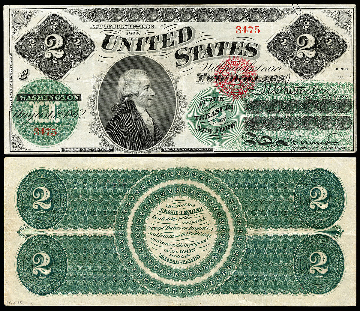 United States Two Dollar Bill Wikipedia