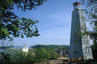 Hannibal, Missouri - Mark Twain Memorial Lighthouse