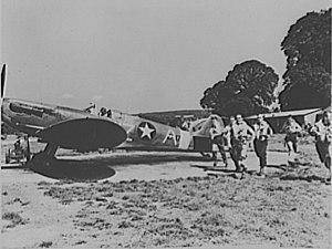Harrison Thyng - Image: USAAF Spitfire in UK 309FS 31FG