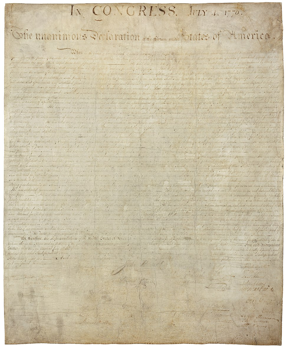 USA declaration independence