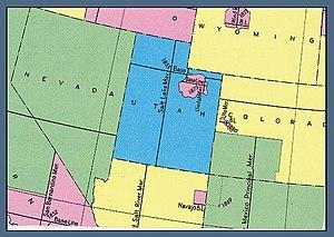 uintah meridian us bureau of land management map showing the principal meridians in utah