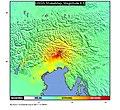 USGS Shakemap - 1976 Friuli earthquake.jpg