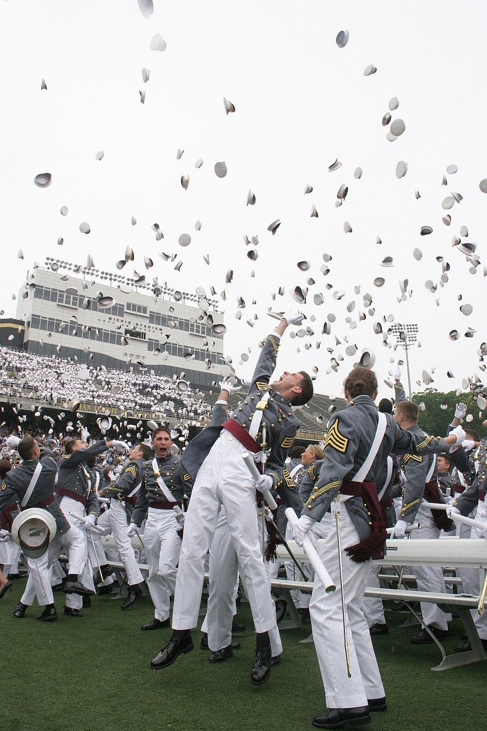USMA Graduation Hat Toss 2008