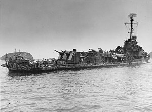 USS Aaron Ward (DM-34) damaged by kamikazes, May 1945.jpg