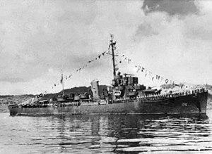 USS Booth (DE-170) at Truk Lagoon on 27 October 1945.jpg