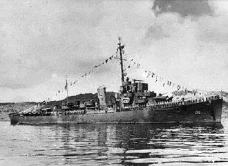 USS Booth - Image: USS Booth (DE 170) at Truk Lagoon on 27 October 1945