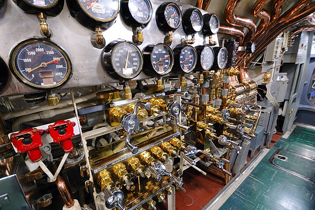 USS Bowfin - Dials, Valves and Knobs