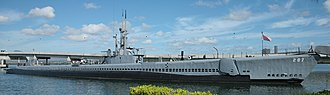 USS Bowfin (SS-287) - Bowfin moored at Pearl Harbor, where it is now a museum