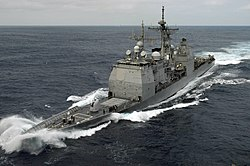USS Chancellorsville (CG-62) takes a wave.jpg