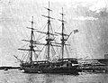 USS Constellation (sloop, 1854) at Newport RI in 1902.jpg