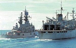 USS Fox (DLG-33) and Sacramento (AOE-1) off Vietnam 1970.jpg