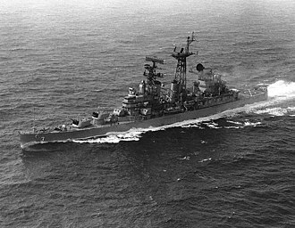 USS Galveston (CL-93) - Image: USS Galveston (CLG 3) underway 1967