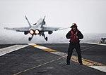 USS Nimitz conducts flight operations. (30494586784).jpg