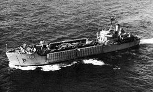 USS Suffolk County (LST-1173) underway c1965.jpg