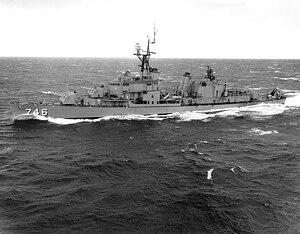 USS Taussig (DD-746) port side 1965