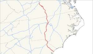 U.S. Route 501 - Image: US 501 map