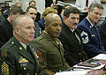 US Navy 030305-F-3050V-051 Top senior enlisted members during a hearing of the House Appropriations subcommittee on Military Construction.jpg