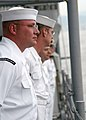 US Navy 030827-N-7267C-001 Sailors man the rails of the guided missile frigate as it pulls into Kure, Japan for a brief port visit.jpg