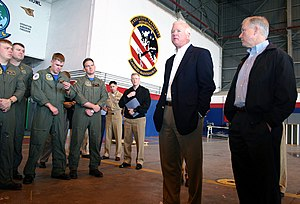 Jeff Sessions - Senators Sessions and Chambliss talk to sailors, NAS Sigonella, Italy, 2004